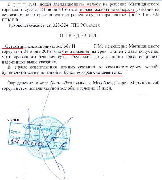 образец заявление об исправлении описки в апелляционном определении - фото 4